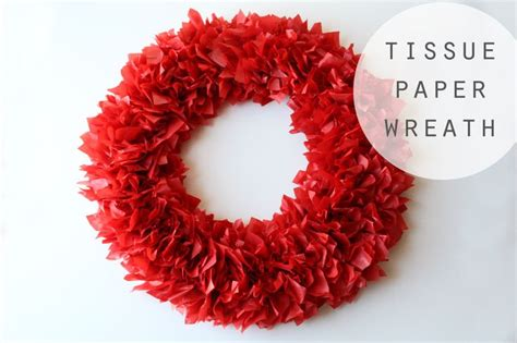 christmas decorations with tissue paper tissue paper wreath for so easy ashton jenkins jenkins pederson abby christine