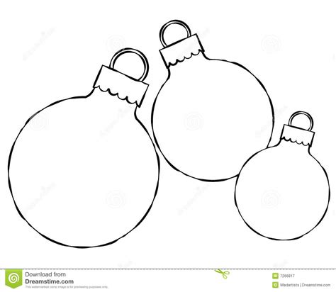 Tree Balls Outline by Tree Ornaments Clipart Black And White Clipartxtras
