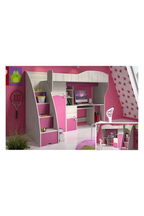 letti a soppalco scorrevoli letto a soppalco con scrivania e armadio rosa fiaba 190x80 cm