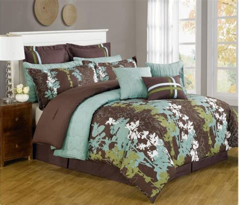 brown bedding teal and brown bedding