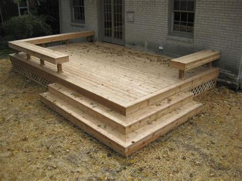 wood bench designs for decks 25 best ideas about small deck designs on pinterest