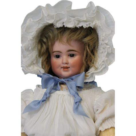 3 faced bisque doll antique 17 inch 3 bisque pull string talking doll