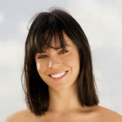 shoulder length hair with wispy bangs medium length hairstyles with bangs