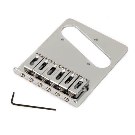 fender standard series telecaster bridge assembly chrome