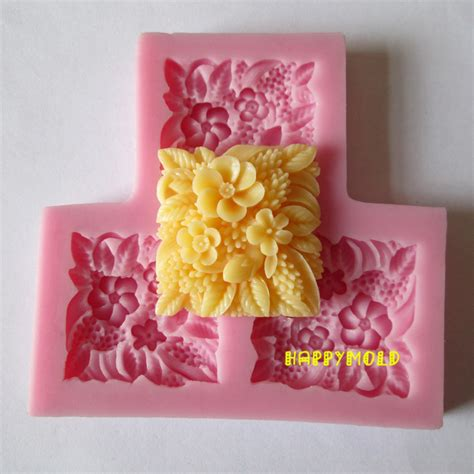 Cake Decorating Flower Molds by Three Square Flower Resin Molds Fondant Mold Silicone