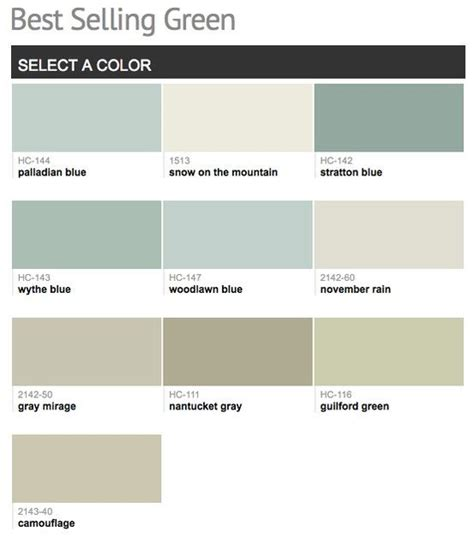 best selling popular shades of green teal turquoise paint colors from benjamin