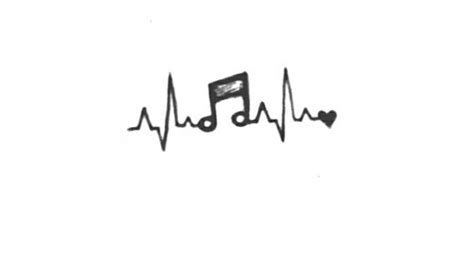 music tattoos tumblr heartbeat