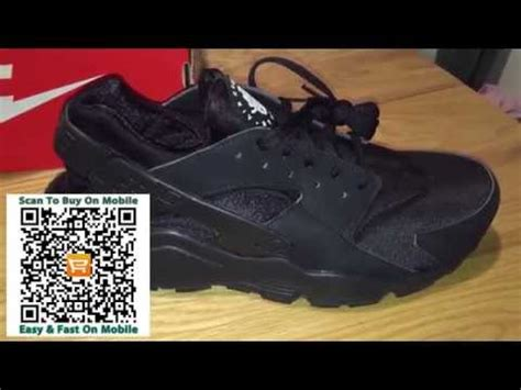 black nike air huarache on trainers review