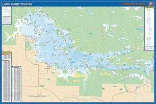 fishing map kabetogama fishing map lake