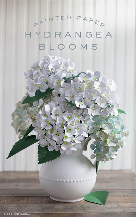 Hydrangea Paper Flower Bloombox diy paper hydrangea flowers