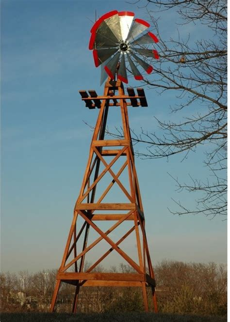 decorative backyard windmill decorative 13 ft wood backyard windmill with red tips