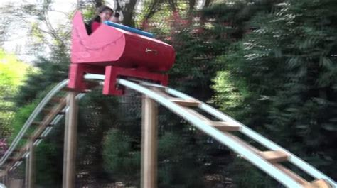 roller coaster in the backyard amazing dad builds a roller coaster for his son in backyard