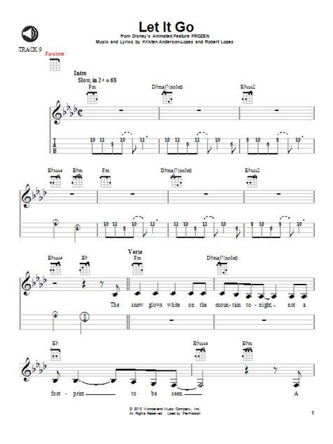 ukulele tutorial let her go let it go from frozen sheet music by idina menzel