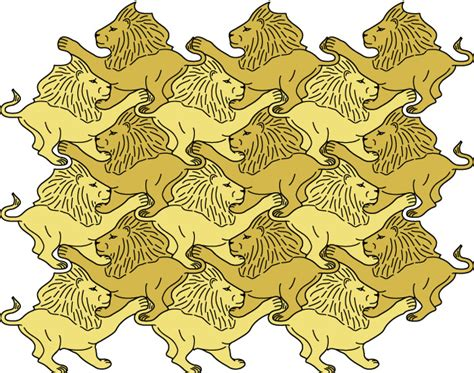 animal tessellations tessellated lions by rfat on deviantart