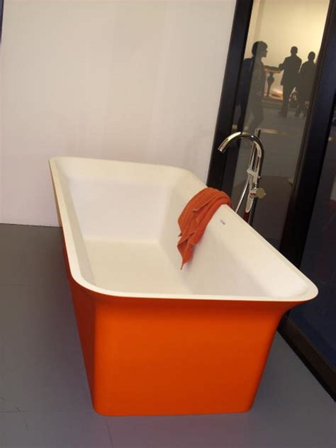 orange bathtub youthful orange bathroom milan 2010 freshome com