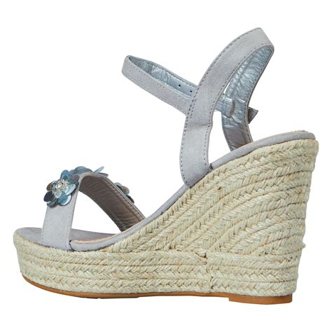 Sequined Wedge Sandal by Coleen Womens High Wedges Heels Platform Sequin Floral