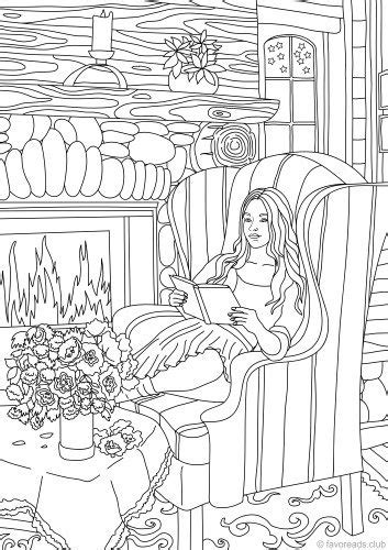 Country Spring Printable Adult Coloring Pages from Favoreads