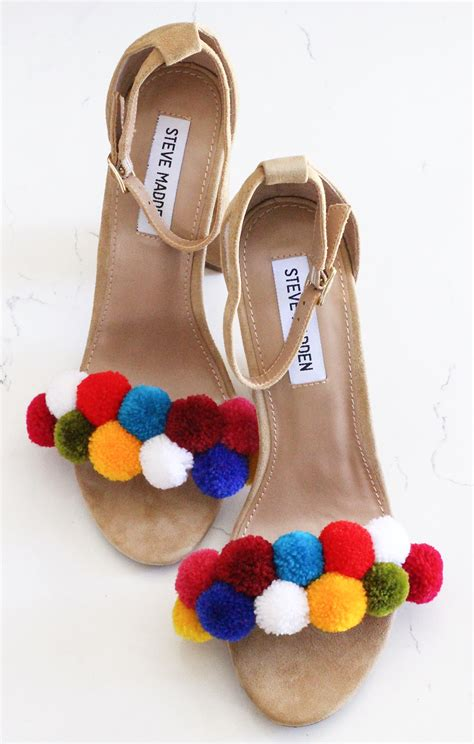 diy shoes diy pom pom shoes