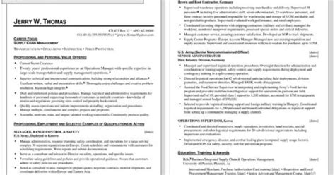 sle resume for returning to work to civilian resumes sle resume for