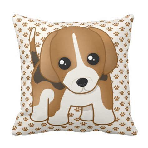 Puppy Pillows by Kawaii Beagle Puppy Pillow Zazzle