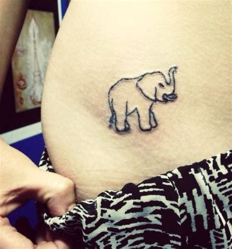 elephant tattoo lucky elephant hip tattoo trunk up for good luck elephant