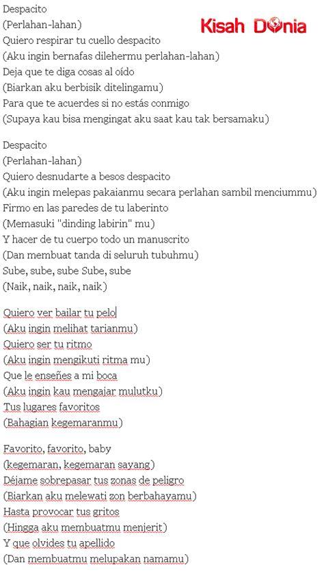 arti despacito arti lirik lagu despacito 28 images jadi viral dan ngetrend ternyata ini arti lirik lagu