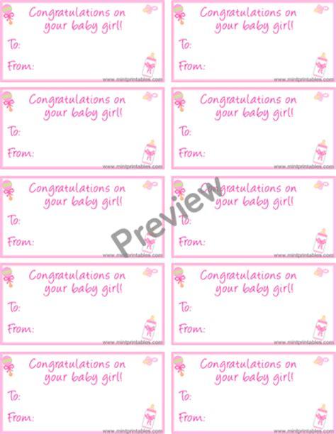 printable baby girl gift tags printable gift tag for baby girls