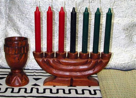 kwanzaa kinara complete set with 7 candles large