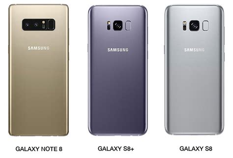 Samsung Note 8 Vs S8 galaxy note 8 vs galaxy s8 vs galaxy s8 image comparison
