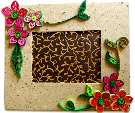 to make beautiful how to make beautiful quilling photo frame easy craft ideas