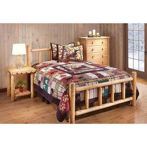 cedar bedroom sets castlecreek cedar log bed full 235868 bedroom sets at sportsman s guide