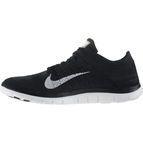 Nike Free Mens Running Black White nike mens free 4 0 flyknit running shoes black white