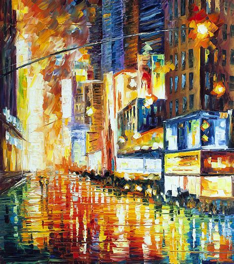 paint nite nyc locations times square palette knife painting on canvas by