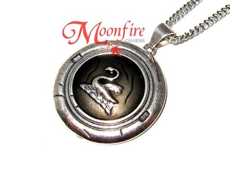Kalung Swan Necklace 06 once upon a time swan talisman necklace seals punch and products
