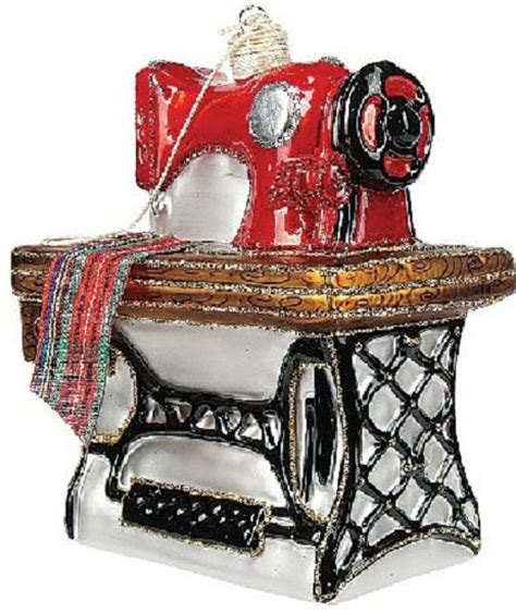 stitching sewing machine polish glass christmas ornament