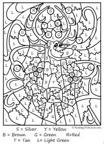 Santa color by number color by number coloring pages