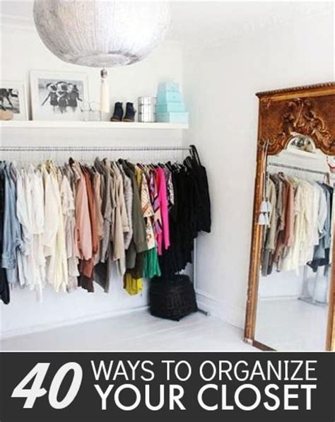 easy ways to organize your closet 48 best images about organizing tips on