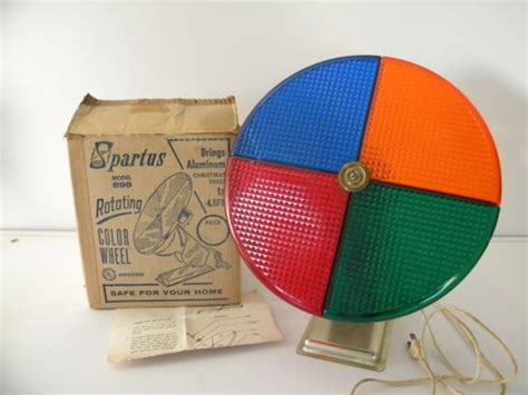 vintage spartus rotating color wheel 898 aluminum