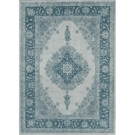 pet stain resistant area rugs ruggable washable parisa blue 5 ft x 7 ft stain resistant area rug 131633 the home depot