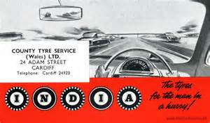 Car Tyre India India Car Tyres Blotter From The Early 1960s