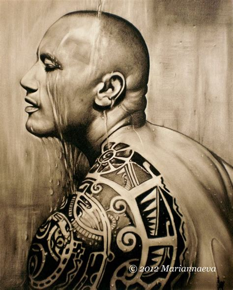 dwayne johnson tattoo artist dwayne johnson 2 by mariannaeva on deviantart