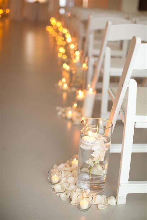 small candles for wedding lauren greg s wedding the aisles were further lined