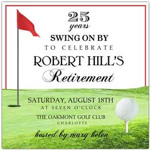 golf tee retirement invitations paperstyle
