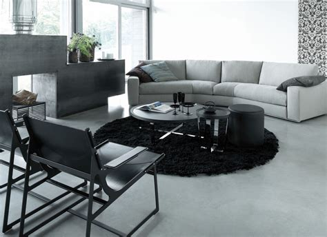 Living Room Sofa Table Curved Sofa Table Living Room Contemporary With Black Chair Black Rug Beeyoutifullife
