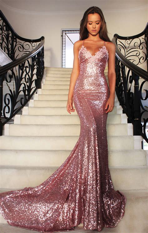 formal beaded dresses gold sequin mermaid backless prom evening