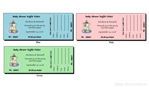 printable raffle ticket cake ideas and designs