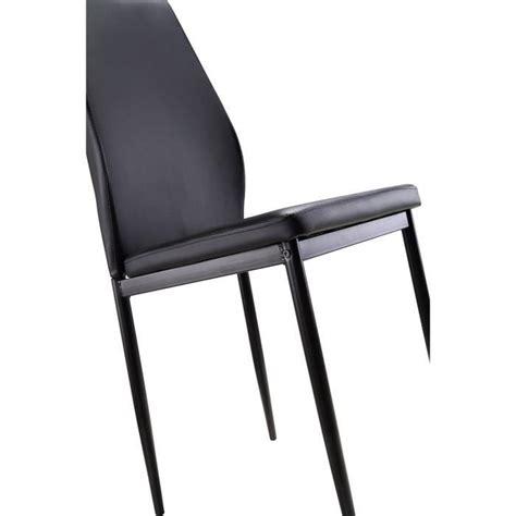 chaise pas cher lot de 6 lot de 6 chaises noires raul achat vente chaise salle a