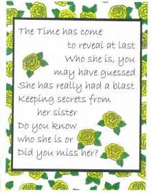 51b7e330356dc5554e97fa77814948ce_secret sister secret santa reveal clipart_1280 1644 secret sister reveal card on birthday cake for sister pinterest