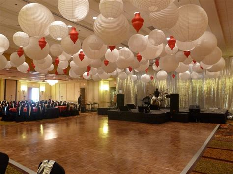 Ceiling Lights Decorating Ideas by Paper Lantern Ceiling Decorations At A Corporate Event At
