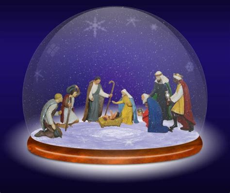 nativity snow globe christmas pinterest